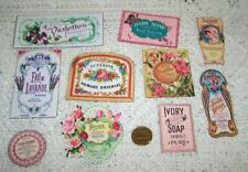 Vintage Inspired~Perfume~Soap~Apothecary~Linen Cardstock~Labels~Stickers
