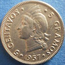 DOMINICAN REPUBLIC 5 CENTAVOS 1937 Dominicana Dominikanische Dominicaine Dom Rep