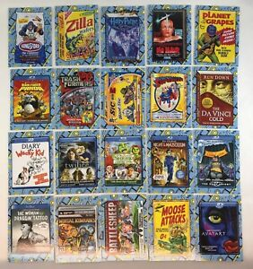 WACKY PACKAGES GO TO THE MOVIES Topps Complete CLASSIC FILM STICKERS 20 Card Set