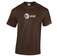 AT&T T-shirt 80s Vintage LOGO Funny GEEK Phone TEE Shirt Dark Chocolate Brown