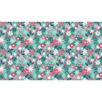 Makower Patchwork Fabric Fruity Friends Floral Blue - Per 1/4 Metre