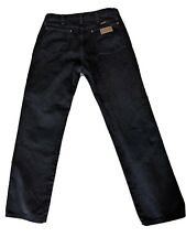 Mens Wrangler Size 32x32 Relaxed Fit Black Denim Jeans Texas Cowboy Cut