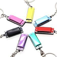 Metal Key Ring Keychain Mini 4 Hole Harmonica Model For Kid ChildXmas Gift Toy