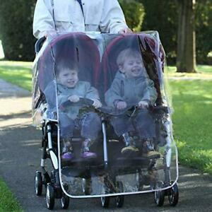 Diono Double Stroller Buggy Pushchair Universal Rain Cover with Carry Case