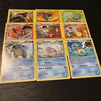 POKEMON - CHARIZARD VENUSAUR BLASTOISE - 9 CARD EVOLUTION SET OFFICIAL - NM