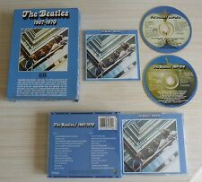 RARE COFFRET CARTON + BOX 2 CD ALBUM BLEU THE BEATLES 1967 1970 28 TITRES 1993