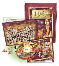 Great Birthday Gift Set: 1949 Flickback Book & DVD Plus a Decade Puzzle