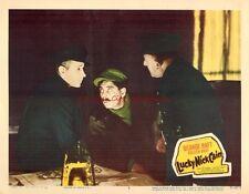 Original Lobby Card 1951 Lucky Nick Cain Crime Film Noir George Raft #2