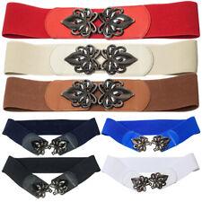 Retro Pattern Women Elastic Wide Belt for Lady Stretch Waist Belt Dress jacket