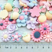 Mix Lots 3D Flower Resin Flatback Phonecover Button  Scrapbook Diy Craft