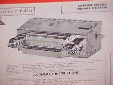 1960 1961 1962 FORD FALCON RANCHERO MERCURY COMET AM RADIO SERVICE SHOP MANUAL