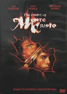 Brand New DVD The Count of Monte Cristo Jim Caviezel Guy Pearce Richard Harris