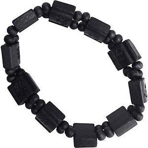 Stretchy Dark Brown Wood Beaded Wristband Bracelet Bangle Mens Womens Girls Boys