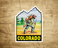 "Colorado Hiking Sticker Decal 3.75"" x 2.75"" Hiker Vail Boulder Breck Aspen"