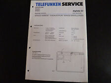 Original Service Manual  Telefunken Radio Digitale 20