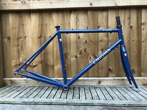 Enigma Ethos 54cm Steel Road Frame And Fork In Near Immaculate Condition