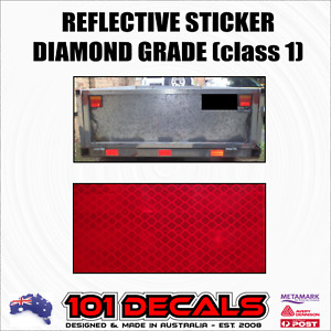 Class 1 diamond grade reflective safety sticker. 4wd,car,caravan,camper trailer