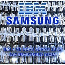 IBM 49Y1430 16GB DDR3-1333 PC3-10600 Registered Server RAM 4x4GB NEW DELL IBM HP