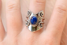 Lapis Lazuli Ring 925 Solid Sterling Silver Handmade Ring (US-LPS-016)