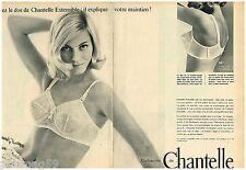 D- Publicité Advertising 1965 (2 pages) Lingerie soutien gorge Chantelle
