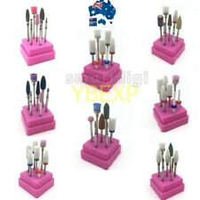 7 Pcs Ceramic Nail Drill Bits Set Electric File Manicure Pedicure Nail Art Tools