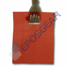 More details for 100 medium red punch out handle gift fashion party market plastic carrier bags