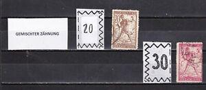 Slowenien, SHS, Jugoslawien, Franko, GEMISCHTER ZÄHNUNG, 1919, gestempelt