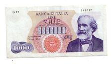Italia 1000 lire 1966 Verdi Spl XF   pick 96d numero serie 142037 rif 2361