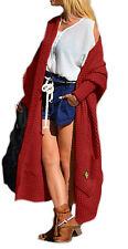 Damen Strickjacke Pullover Pulli Cardigan Langarm OVERSIZE S,M,L,36,38,40 (658)