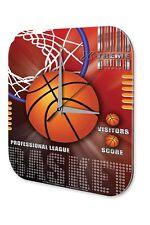 Wall Clock Retro Deco  Basketball professional league Printed Acryl Acrylglass