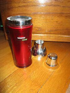 Red Cocktail Shaker Pretty Sonnema Vodka herb Martini Silver NEW Attractive