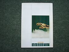 32 PAGE JAGUAR SALES BROCHURE FROM 1988 IN VERY GOOD CONDITION