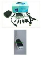 SOLAR MOSQUITO REPELLENT WITH PHONE CHARGER (ADAPTORS INCL.) & LED FLASHLIGHT