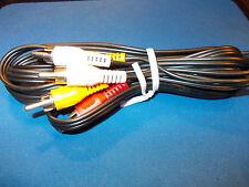 5.5 FT Gold 3 RCA Plug Cable Video Audio Composit TV AV  RCA VIDEO PLUGS