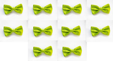 LOT OF 10 Neon Lime Green Men's Adjustable Bowties/Bow tie Tuxedo Wedding