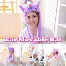 Cute Ear moveable Unicorn Hat Plush Move! Airbag Anime Cosplay! UK Seller !
