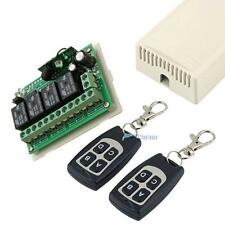 Universal Remote Control Switch 12V DC 4-CH Wireless 12V Output Relay Switch TL