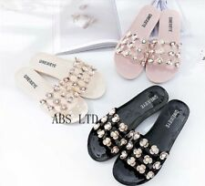 PEARL LADIES JELLY FLIP FLOPS WOMEN SUMMER BEACH TOE POST FLAT SHOES SANDAL