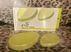 ELF Cosmetics Active Blend It Out Silicone Blender Makeup Sponges Duo New