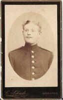 CDV photo Soldat - Neuruppin 1880er