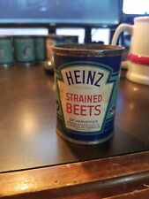 Vintage Heinz 57 Strained Baby Food Paper label Tin Can~ Strained Beets
