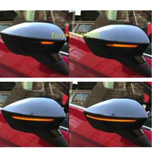 For SEAT LEON 3 Ibiza KJ  Arona Side Wing Mirror LED Dynamic Turn Signal Light