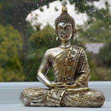 Buddha Statue Sculpture Meditating Antique Home Ornament Thai NEW Large 33078