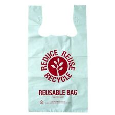 500 LARGE REUSABLE Plastic bags Shopping carry bags 36 microns 54 x 30 x16cm