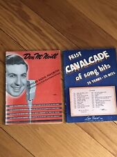 Leo Feist/Don McNeill Popular Songs Vintage Music Books