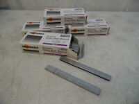 """4 Box 20000 Pc 1/4"""" X 1/2"""" Galvanized Chisel Point Crown Staples As BEA97 New"""