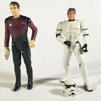 Lot of 2 Vintage Action Figures • Star Trek Riker • Star Wars Han Solo Disguise