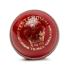 Cricket Ball Match Quality Hand Stitched Leather Hard Cricket Balls 5.50oz