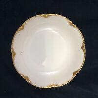 """HAVILAND Ranson Gold Pattern Fruit Dessert Sauce Bowl 5"""" Limoges France Vintage"""