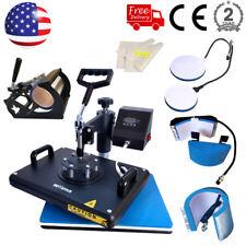 15x12 Combo 5in1 Heat Press Sublimation Transfer Machine Swing Away T Shirt Mug